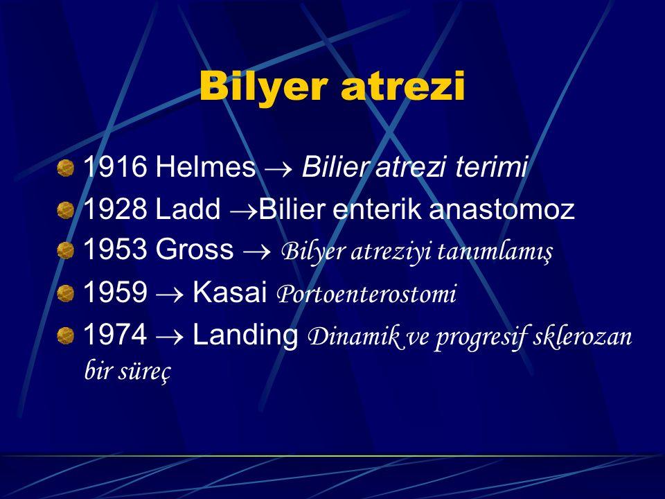 Bilyer atrezi 1916 Helmes  Bilier atrezi terimi
