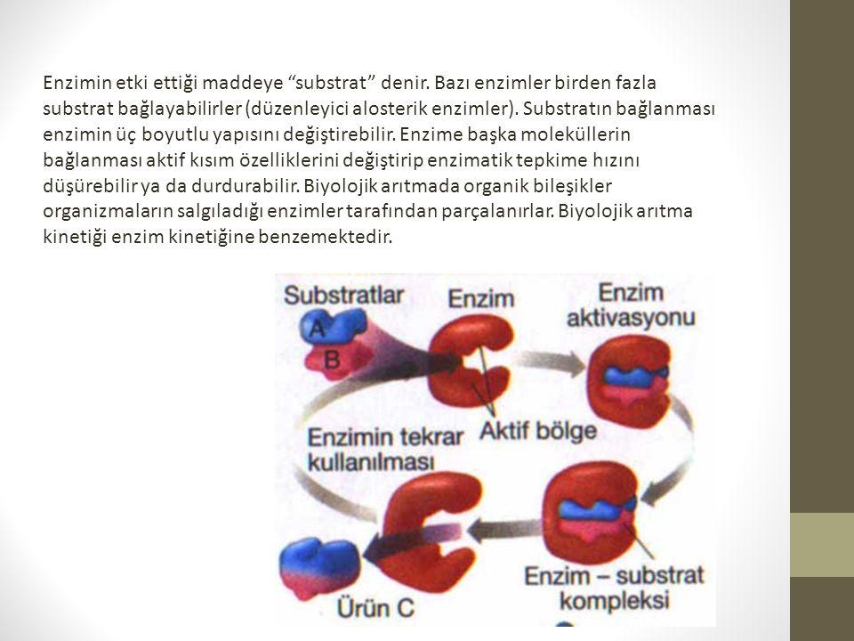 Enzimin etki ettiği maddeye substrat denir