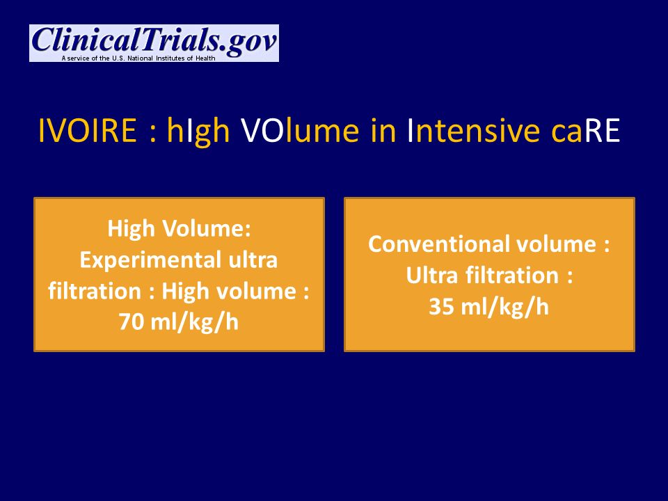IVOIRE : hIgh VOlume in Intensive caRE