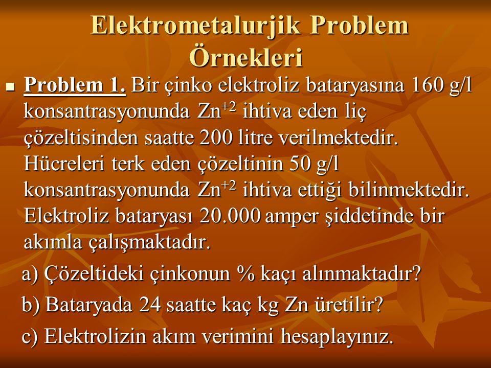 Elektrometalurjik Problem Örnekleri