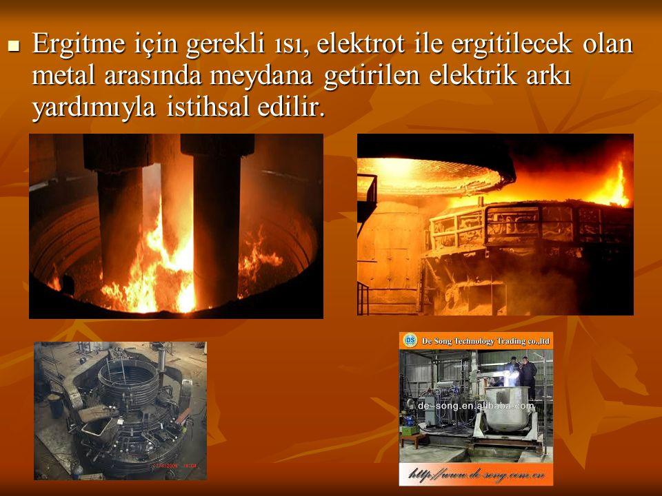 Ergitme için gerekli ısı, elektrot ile ergitilecek olan metal arasında meydana getirilen elektrik arkı yardımıyla istihsal edilir.