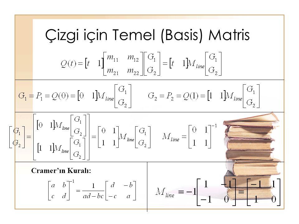 Çizgi için Temel (Basis) Matris