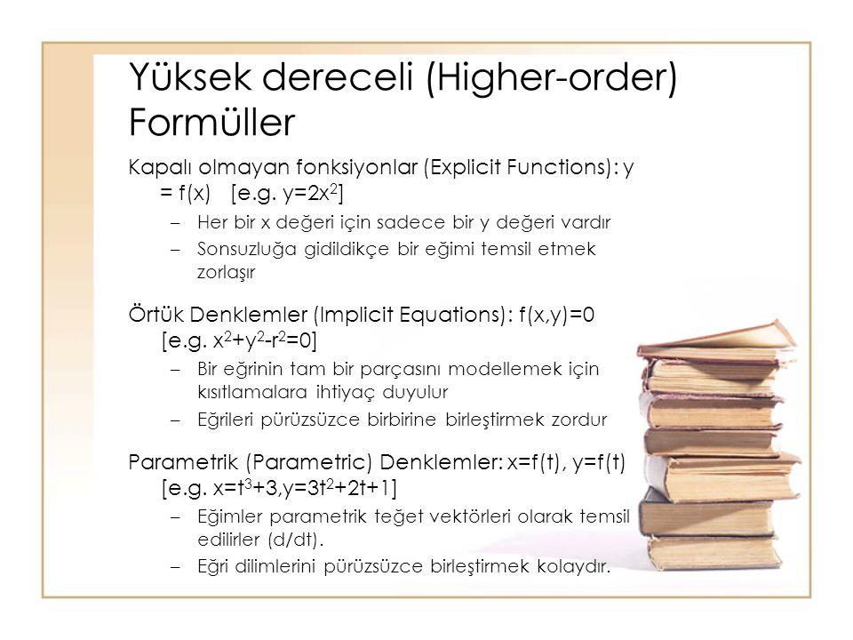 Yüksek dereceli (Higher-order) Formüller