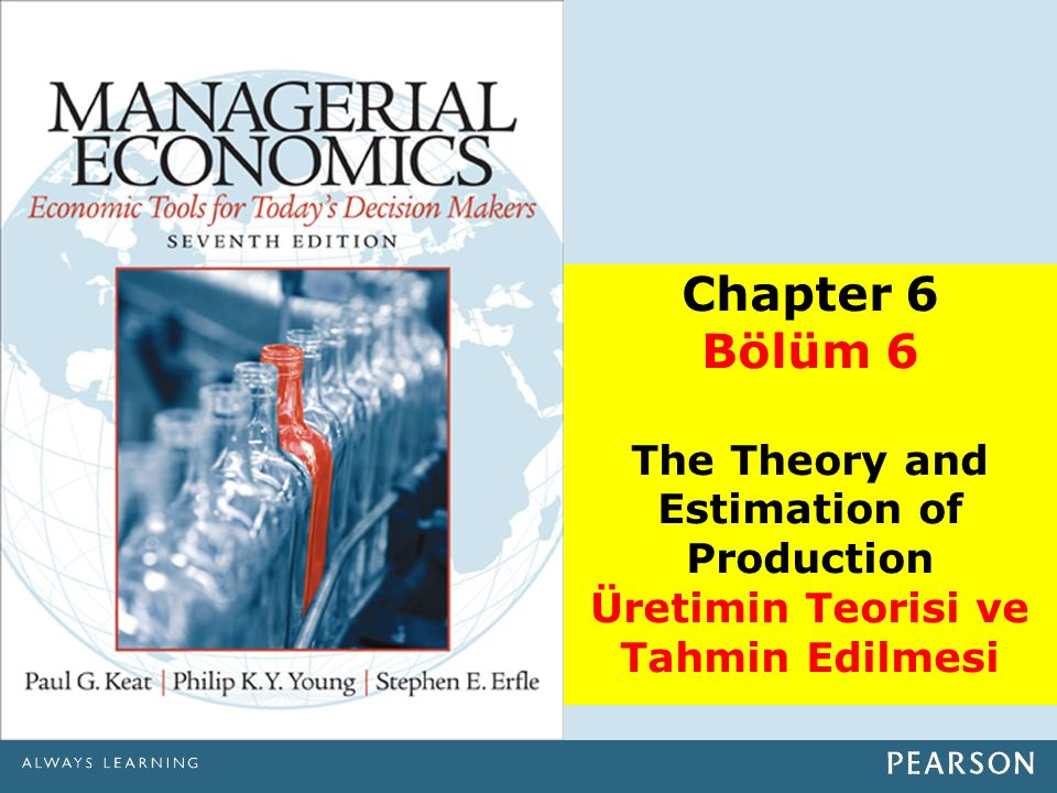 Chapter 6 Bölüm 6 The Theory and Estimation of Production Üretimin Teorisi ve Tahmin Edilmesi