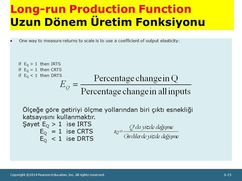 Long-run Production Function Uzun Dönem Üretim Fonksiyonu