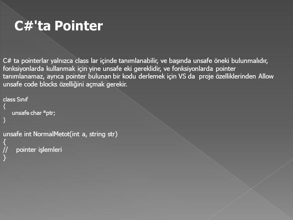 C# ta Pointer
