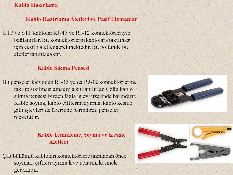 Kablo Hazırlama Kablo Hazırlama Aletleri ve Pasif Elemanlar.