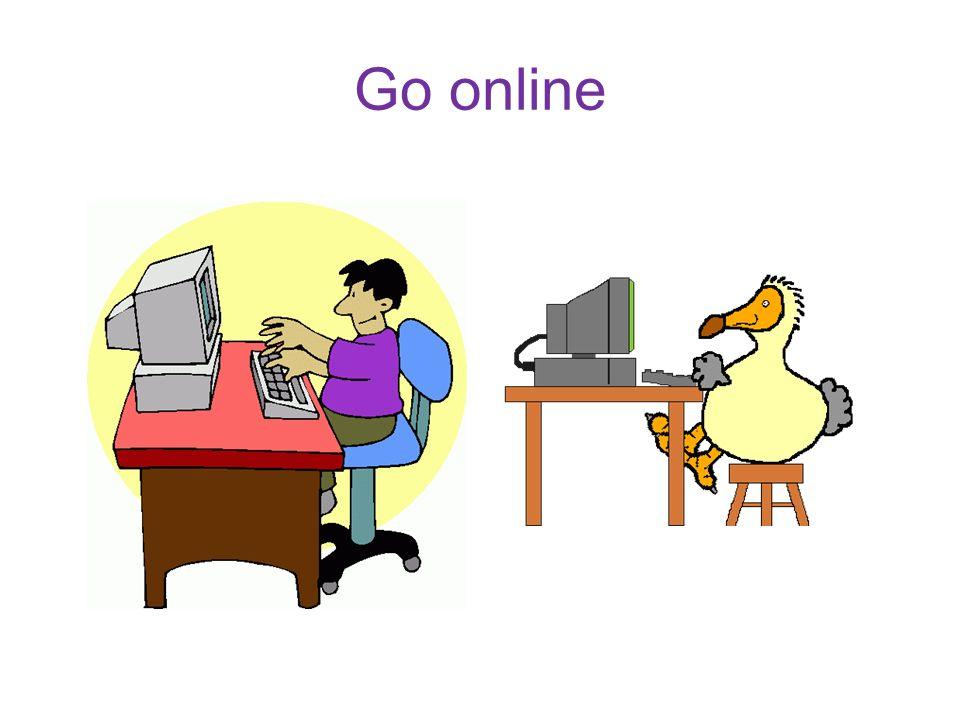 Go online