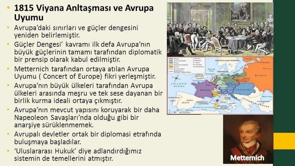 1815 Viyana Anltaşması ve Avrupa Uyumu