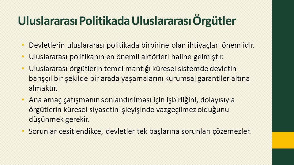 Uluslararası Politikada Uluslararası Örgütler