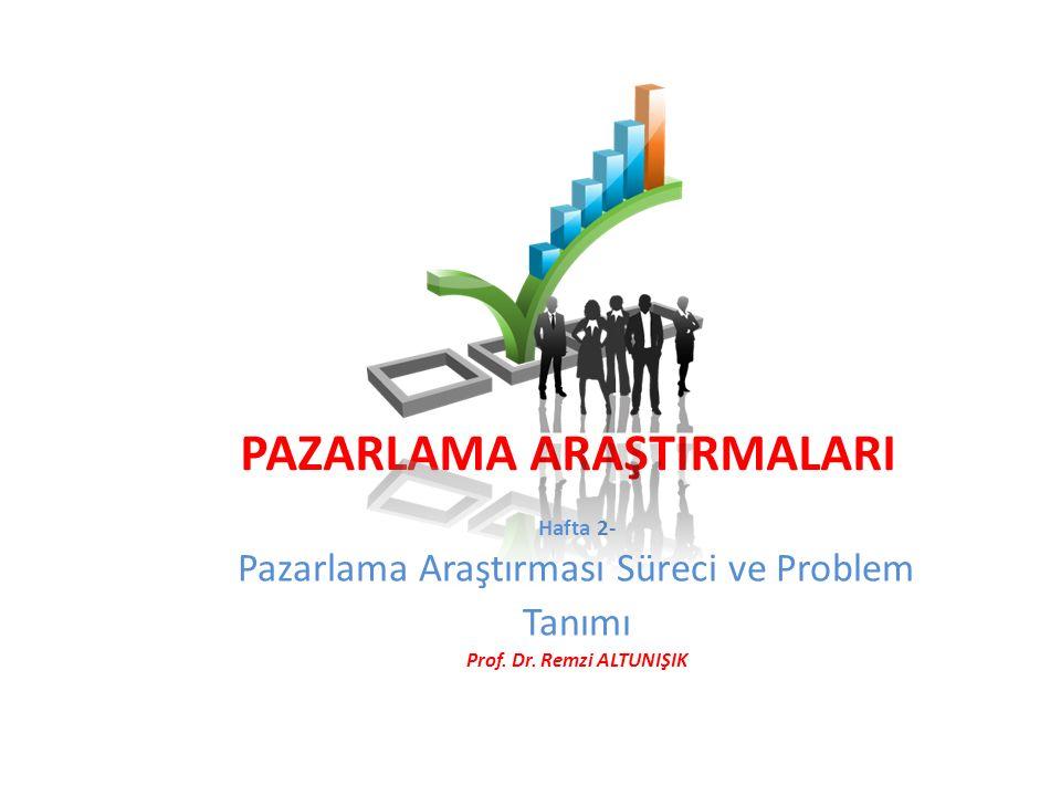 PAZARLAMA ARAŞTIRMALARI Prof. Dr. Remzi ALTUNIŞIK