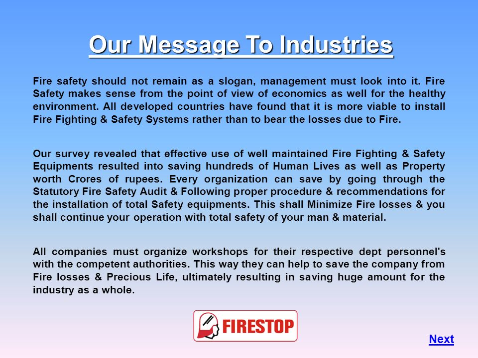 Our Message To Industries
