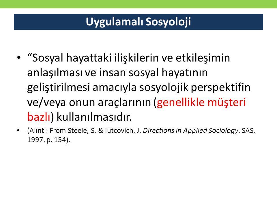 Uygulamalı Sosyoloji