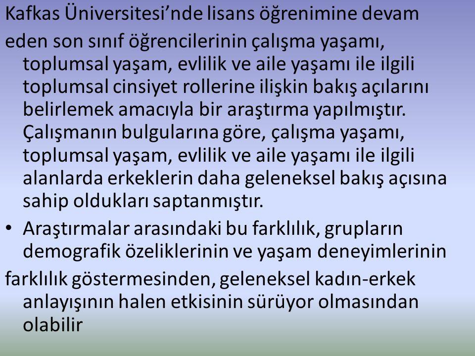 Kafkas Üniversitesi'nde lisans öğrenimine devam