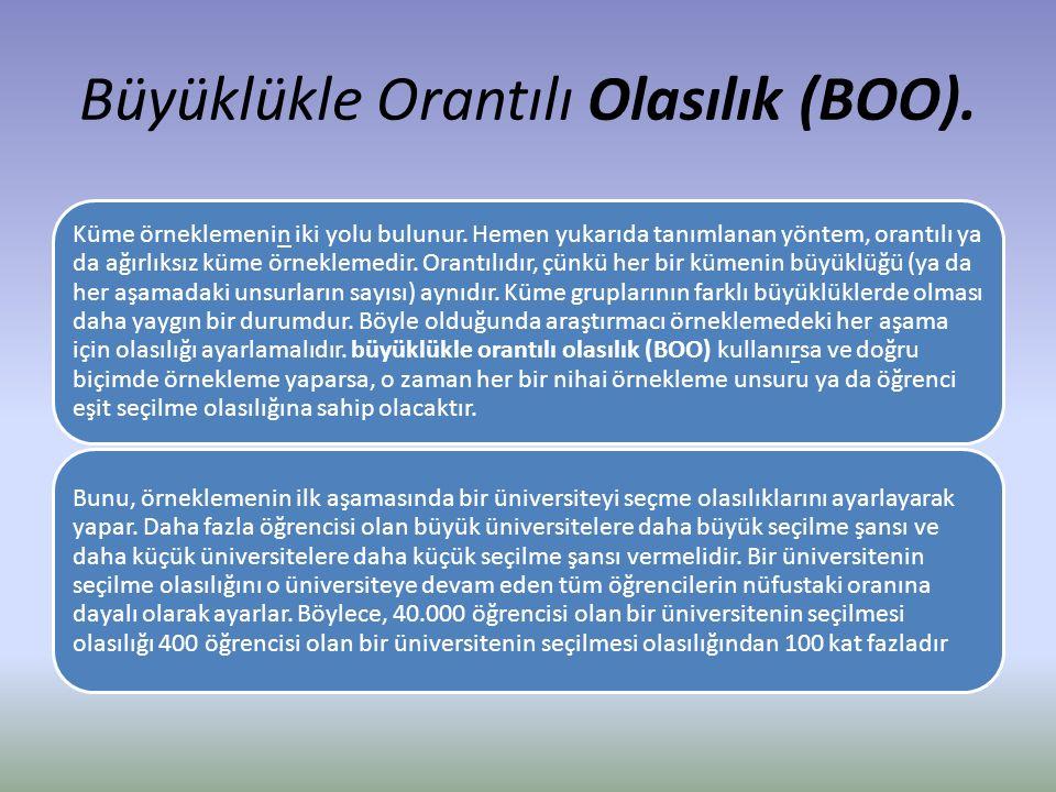 Büyüklükle Orantılı Olasılık (BOO).