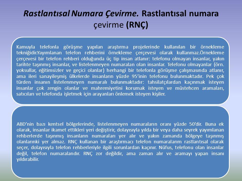 Rastlantısal Numara Çevirme. Rastlantısal numara çevirme (RNÇ)
