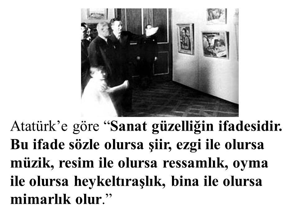 Atatürk'e göre Sanat güzelliğin ifadesidir