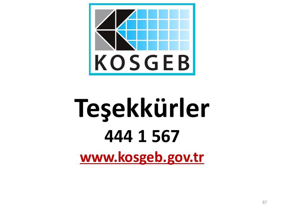 Teşekkürler 444 1 567 www.kosgeb.gov.tr