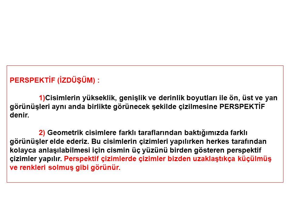 PERSPEKTİF (İZDÜŞÜM) :