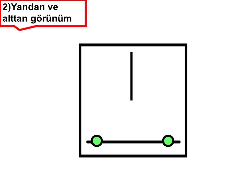 2)Yandan ve alttan görünüm