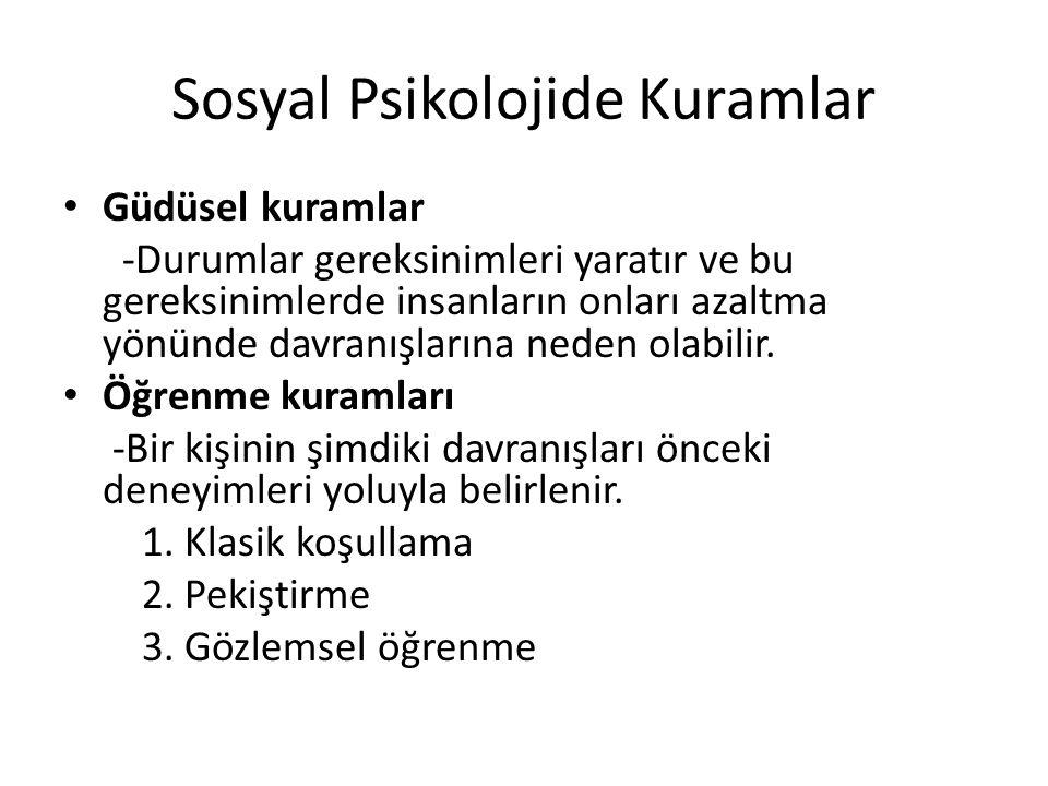 Sosyal Psikolojide Kuramlar