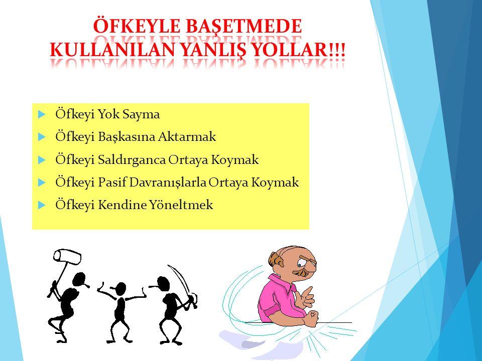 ÖFKEYLE BAŞETMEDE KULLANILAN YANLIŞ YOLLAR!!!