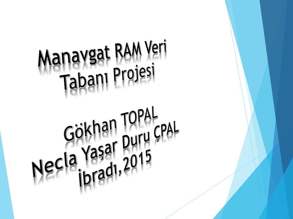 Manavgat RAM Veri Tabanı Projesi