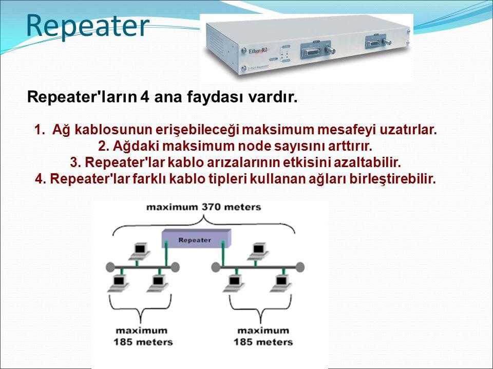 Repeater Repeater ların 4 ana faydası vardır.