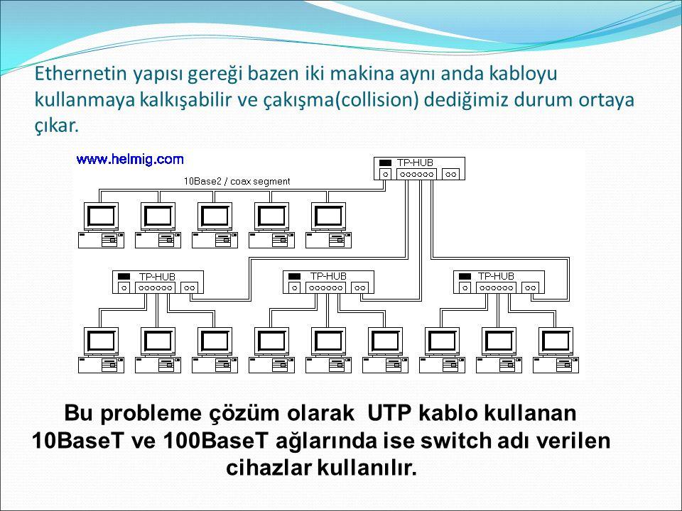 Bu probleme çözüm olarak UTP kablo kullanan