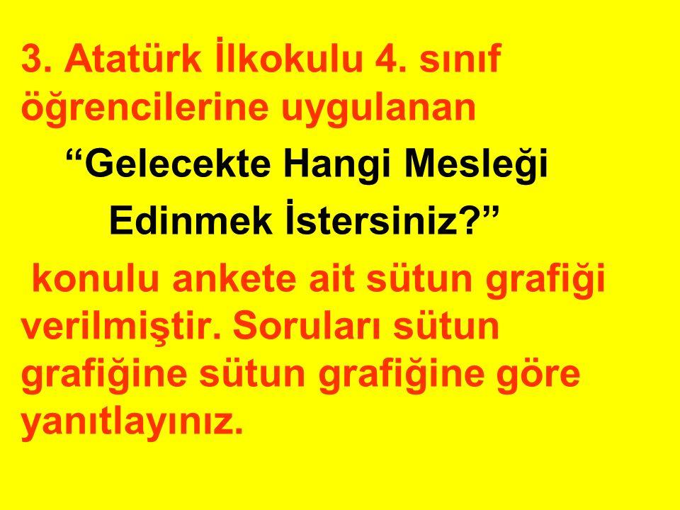 3. Atatürk İlkokulu 4. sınıf öğrencilerine uygulanan