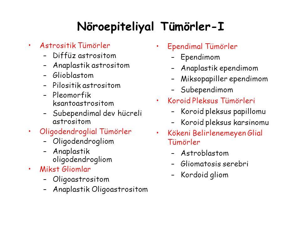 Nöroepiteliyal Tümörler-I