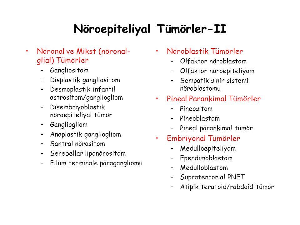 Nöroepiteliyal Tümörler-II