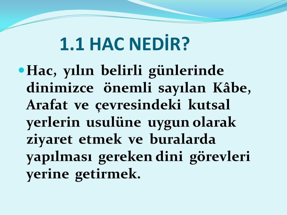 1.1 HAC NEDİR