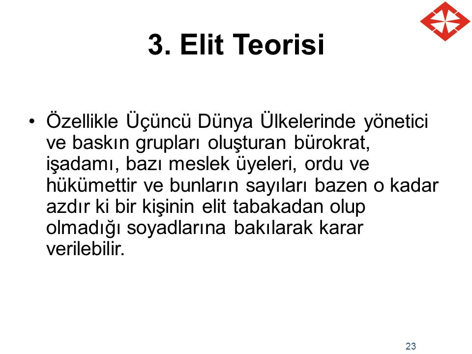 3. Elit Teorisi