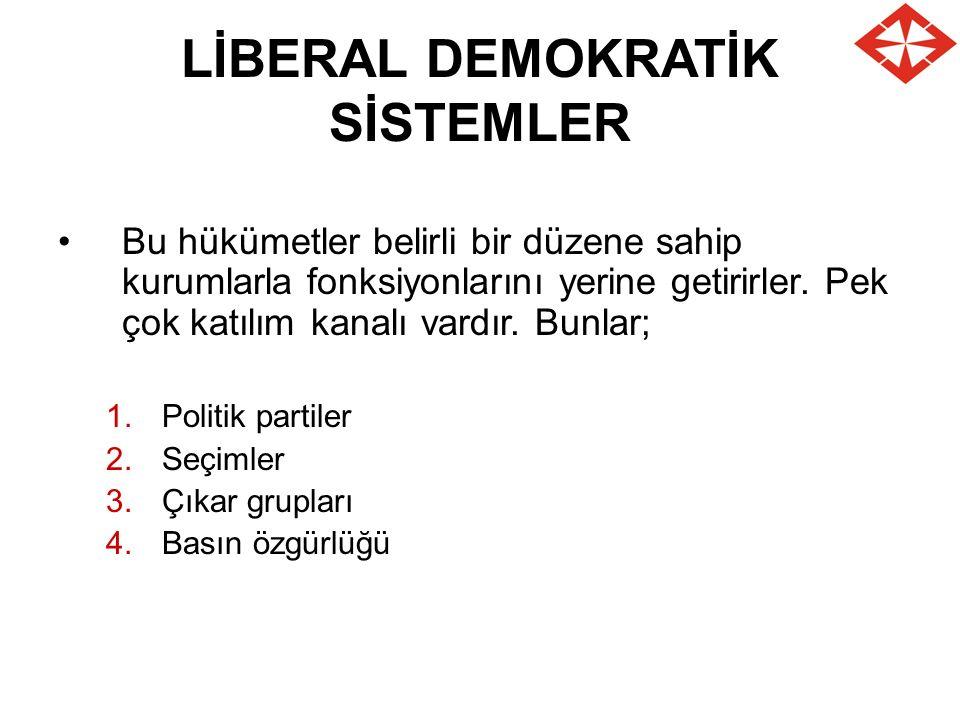 LİBERAL DEMOKRATİK SİSTEMLER