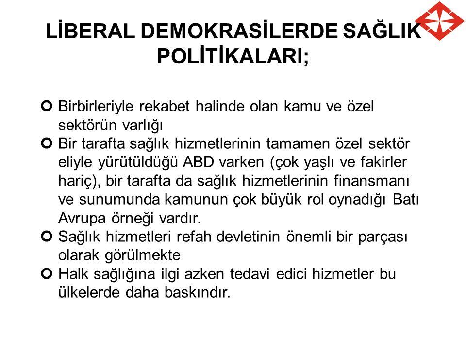 LİBERAL DEMOKRASİLERDE SAĞLIK POLİTİKALARI;