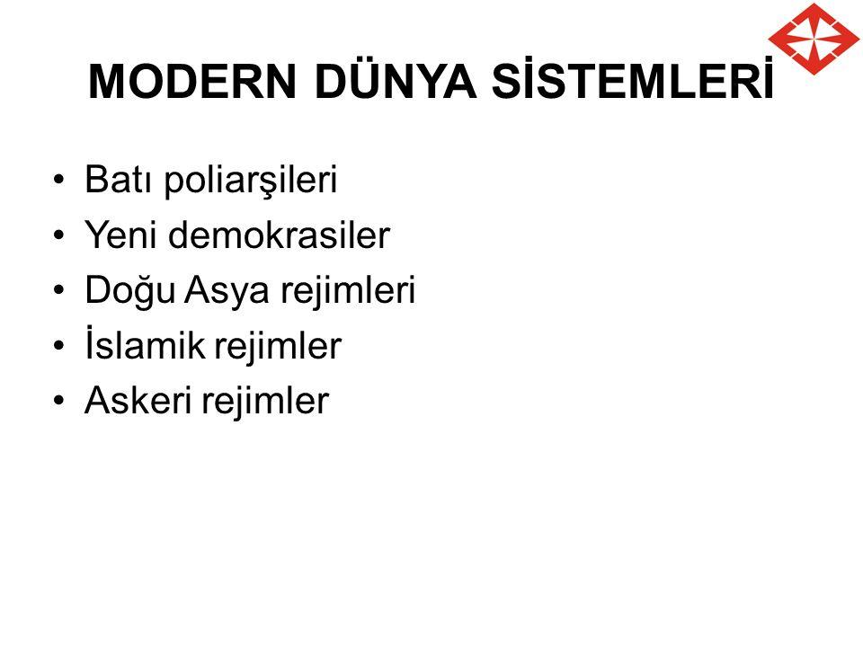 MODERN DÜNYA SİSTEMLERİ