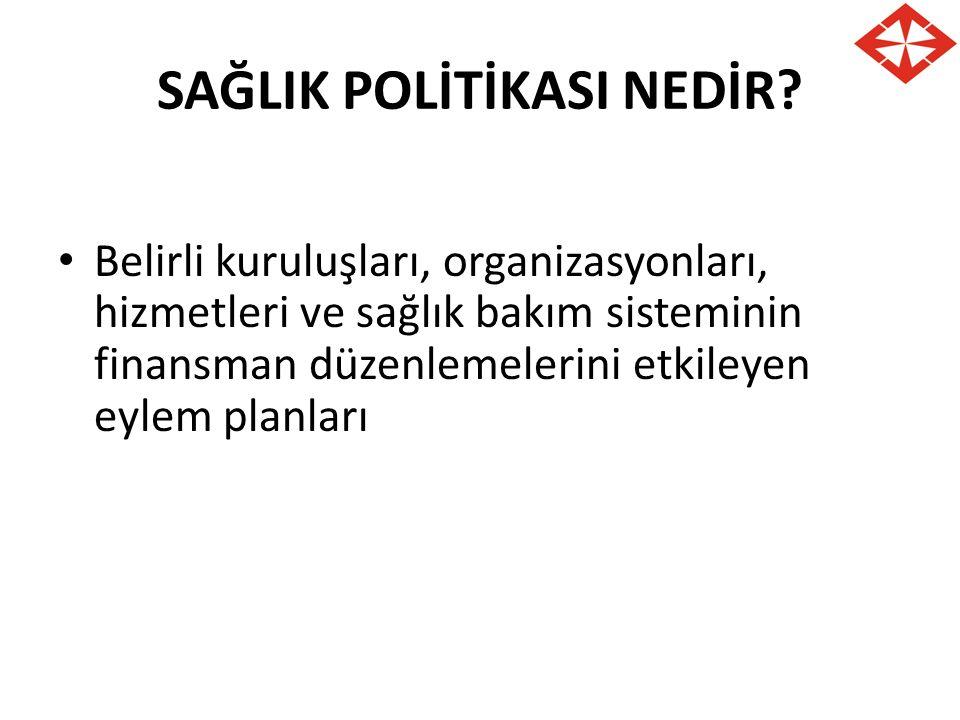 SAĞLIK POLİTİKASI NEDİR