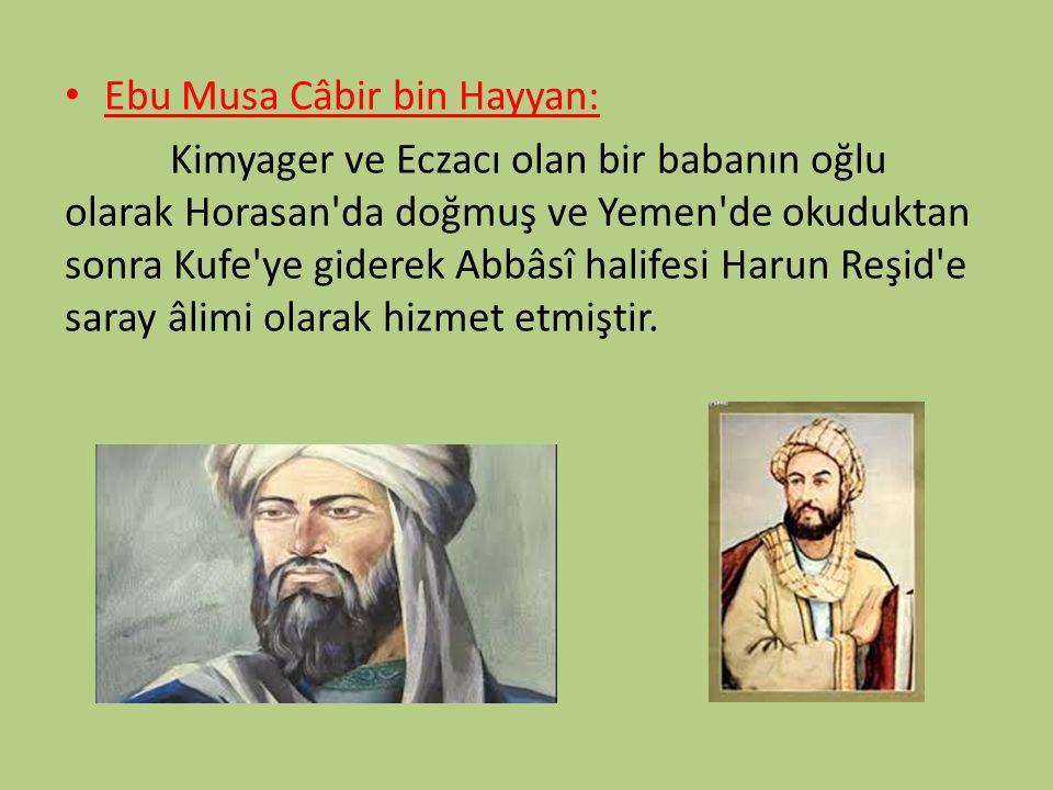 Ebu Musa Câbir bin Hayyan: