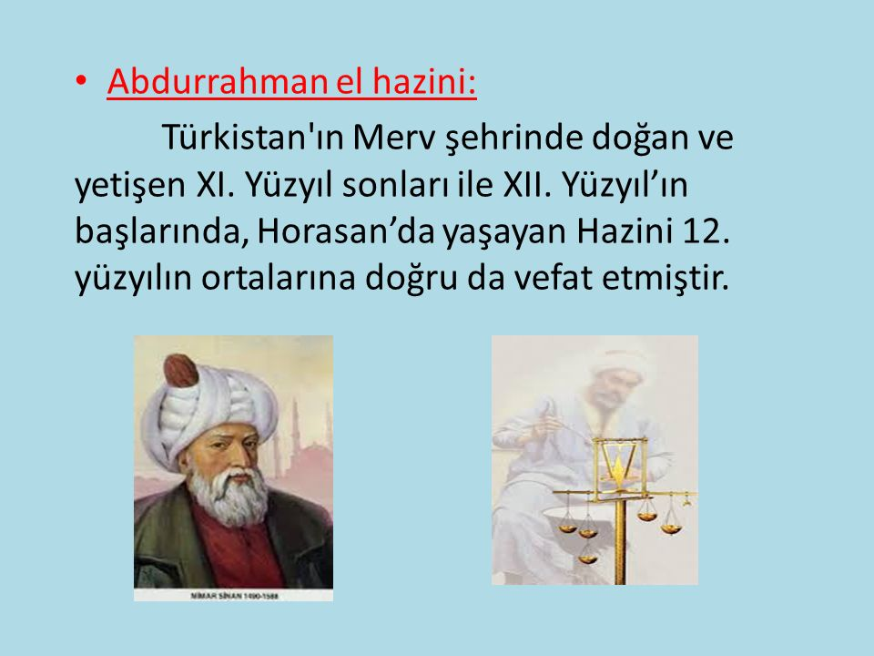 Abdurrahman el hazini: