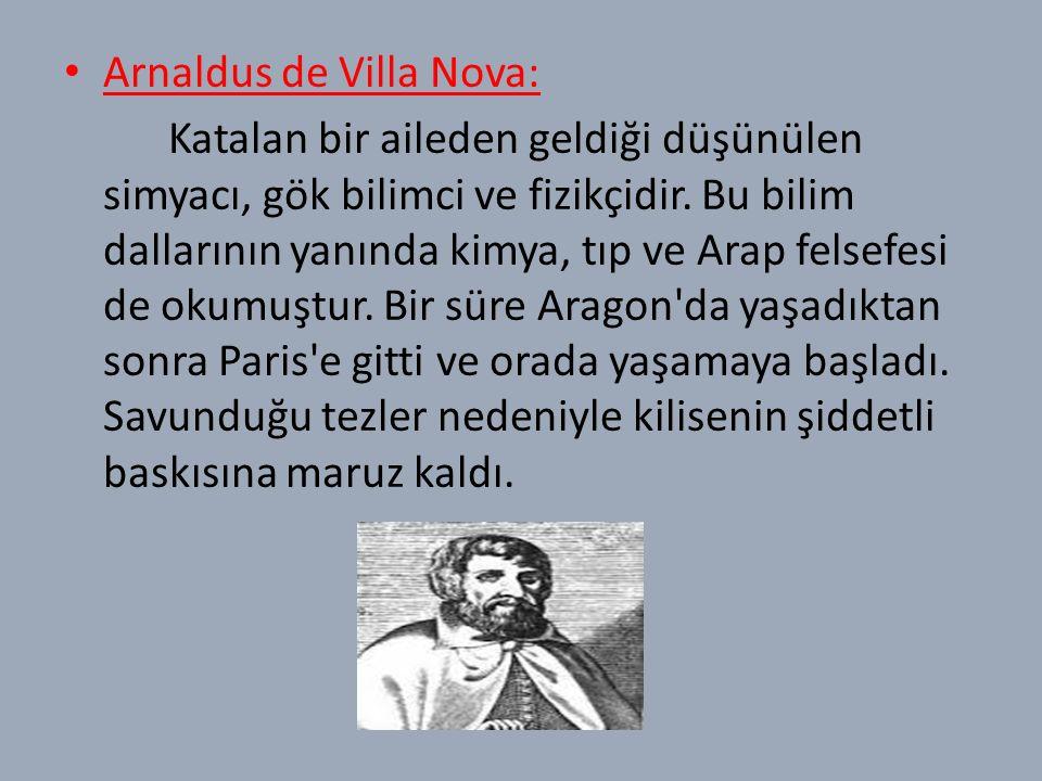 Arnaldus de Villa Nova: