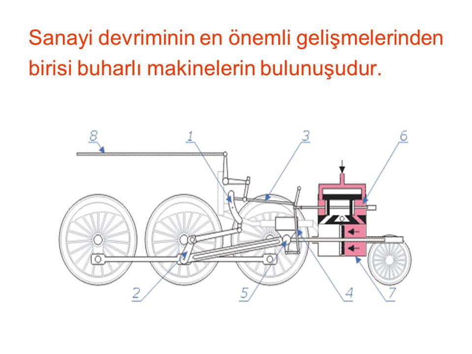 Sanayi devriminin en önemli gelişmelerinden birisi buharlı makinelerin bulunuşudur.
