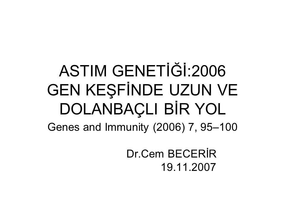 ASTIM GENETİĞİ:2006 GEN KEŞFİNDE UZUN VE DOLANBAÇLI BİR YOL