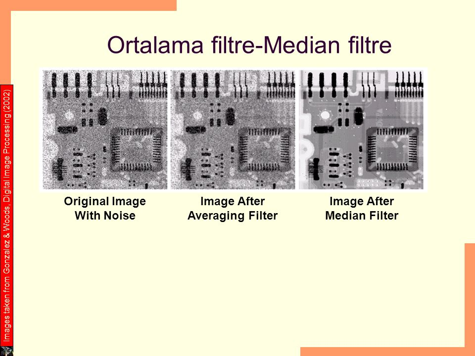 Ortalama filtre-Median filtre