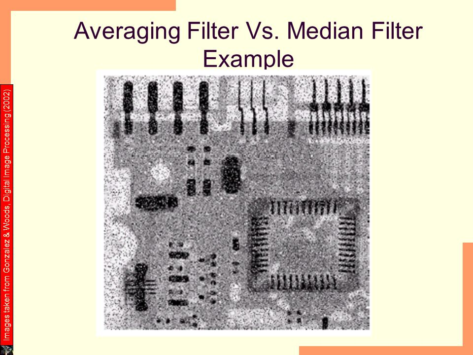 Averaging Filter Vs. Median Filter Example