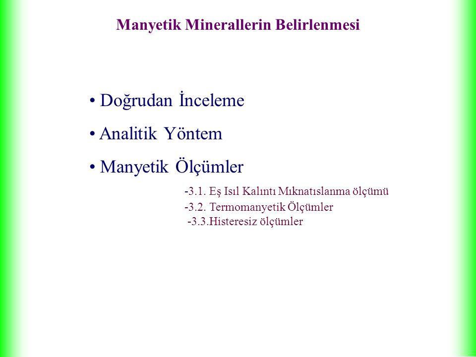 Manyetik Minerallerin Belirlenmesi