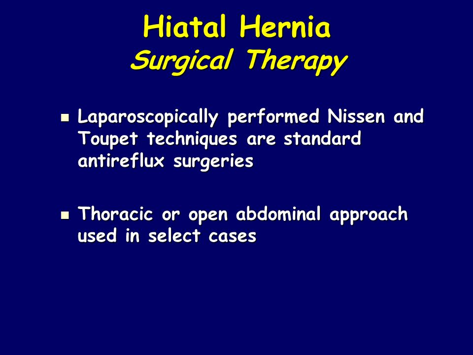 Hiatal Hernia Surgical Therapy