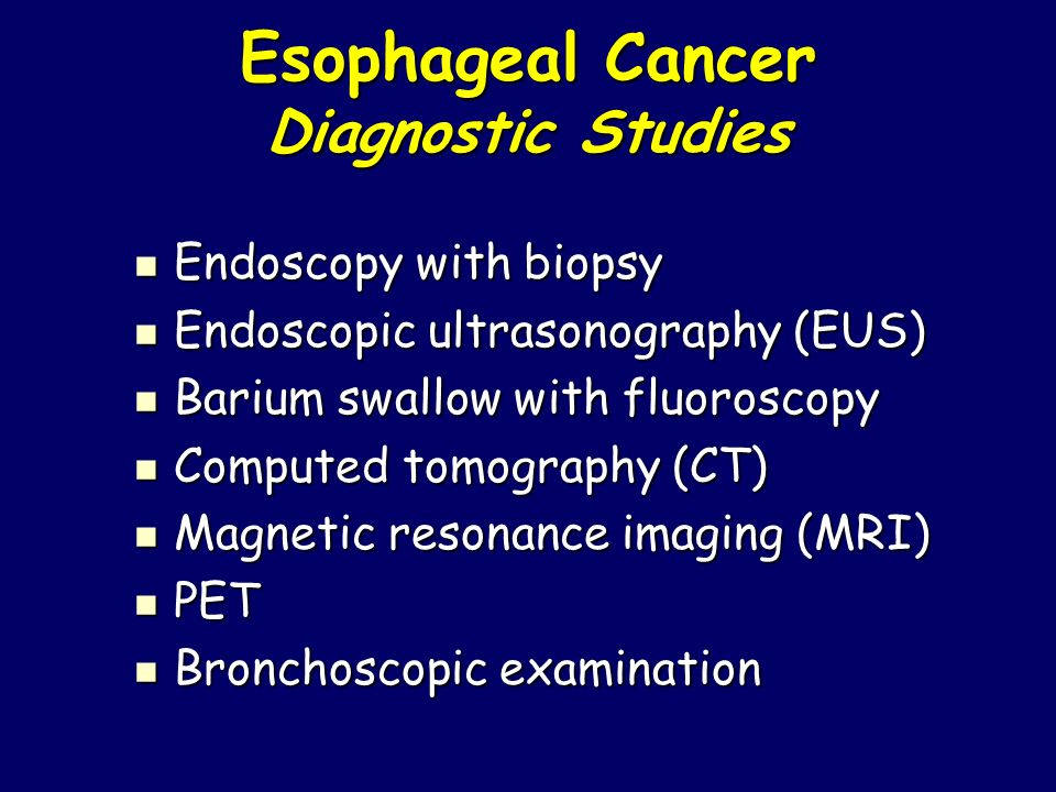 Esophageal Cancer Diagnostic Studies