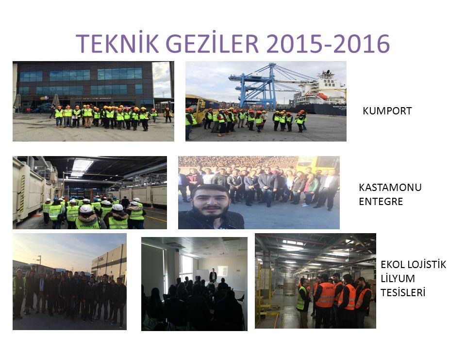 TEKNİK GEZİLER 2015-2016 KUMPORT KASTAMONU ENTEGRE EKOL LOJİSTİK