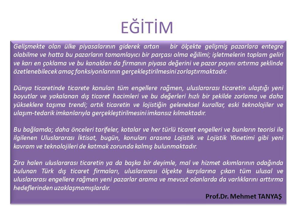 EĞİTİM Prof.Dr. Mehmet TANYAŞ